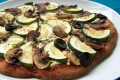 Low carb vegan pizza
