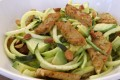 Seitan zucchini salad, low carb vegan
