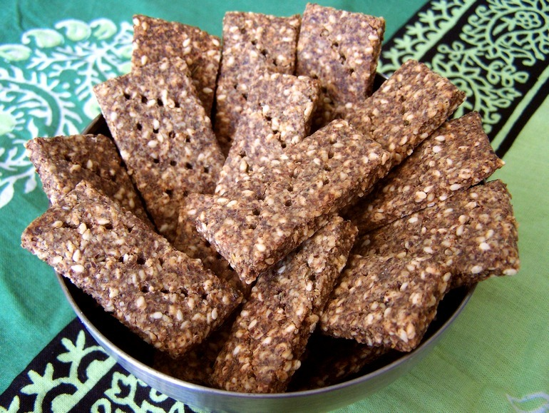 Flax crackers, low carb vegan