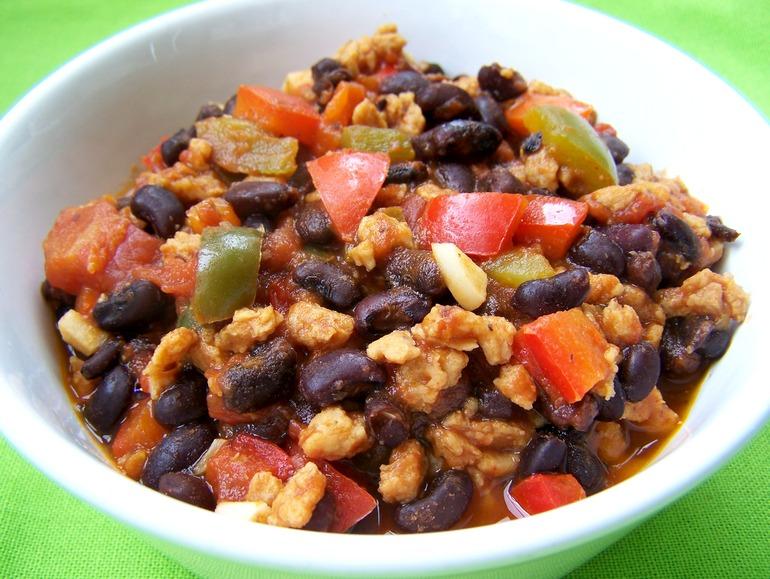 Black soybean chili